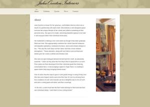 Julia Overton Interiors Website